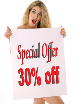 Special offer 30% off