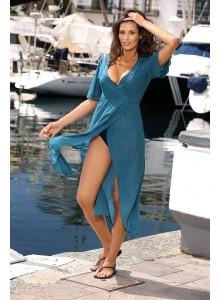 Dolga tunika za na plažo in sprehode - modra