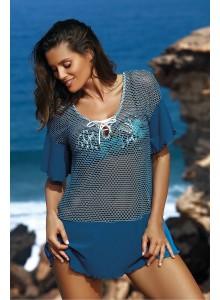 Tunika za na plažo - svetlo modra